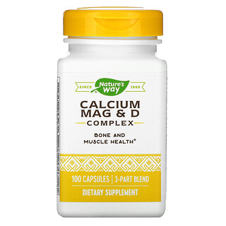 Nature's Way, Calcium Mag & D Complex, 100 Capsules