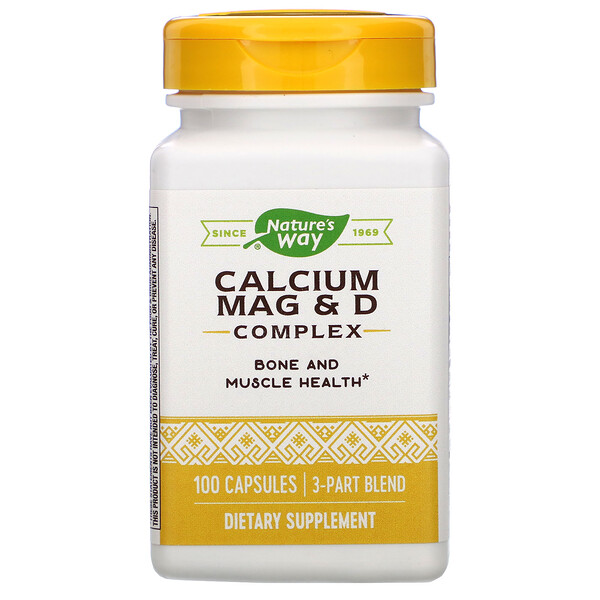 Nature's Way, Calcium Mag & D Complex, 100 Capsules