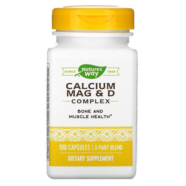 Calcium Mag & D Complex, 100 Capsules