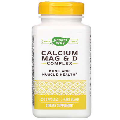 Комплекс с кальцием, магнием и витамином D, 250 капсул