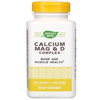 Nature's Way, Calcium Mag & D Complex, 250 cápsulas
