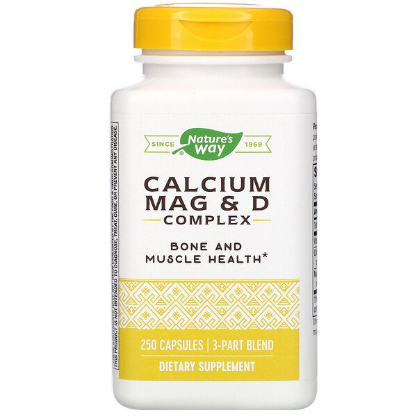 Nature's Way, Calcium Mag & D Complex, 250 Capsules