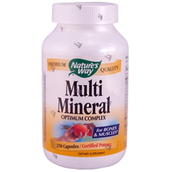 Nature's Way, Multi Mineral Optimum Complex, 250 Capsules (Discontinued Item)