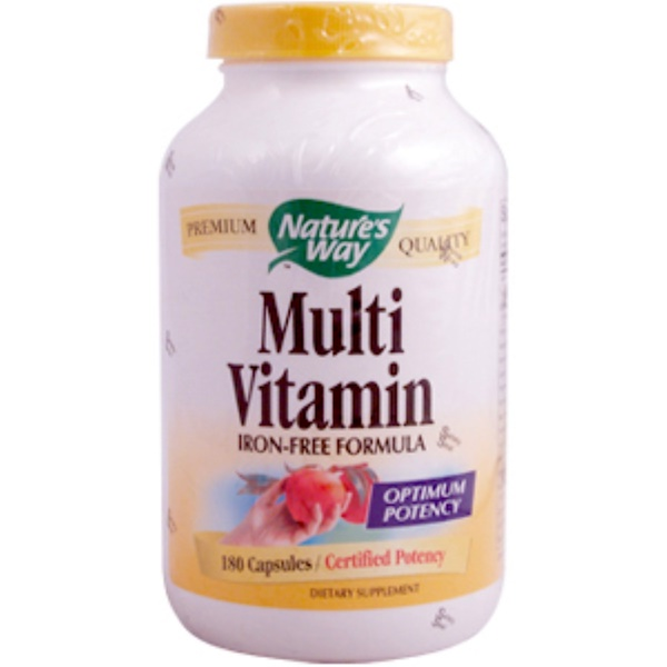 Nature's Way, Multi Vitamin, Iron-Free Formula, 180 Capsules (Discontinued Item)