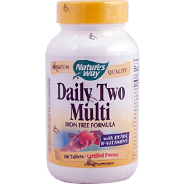 Nature's Way, Daily Two Multi Iron Free Formula, 100 Tablets (Discontinued Item)