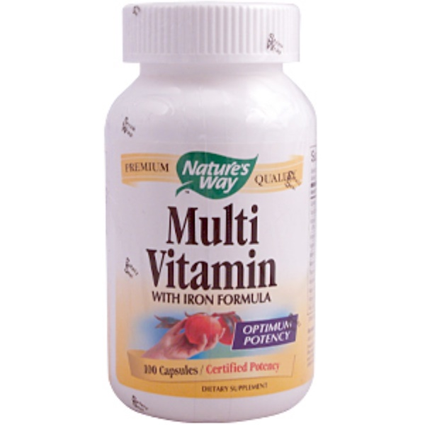Nature's Way, Multi Vitamin with Iron Formula, 100 Capsules (Discontinued Item)