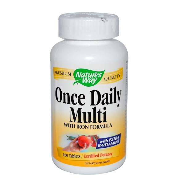 Nature's Way, Once Daily Multi, with Iron Formula, 100 Tablets (Discontinued Item)