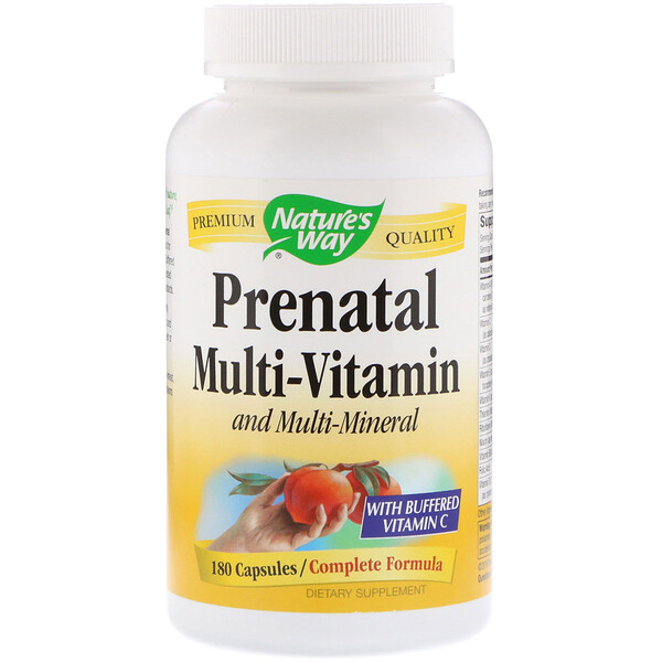 Nature's Way, Prenatal Multi-Vitamin and Multi-Mineral, 180 Capsules