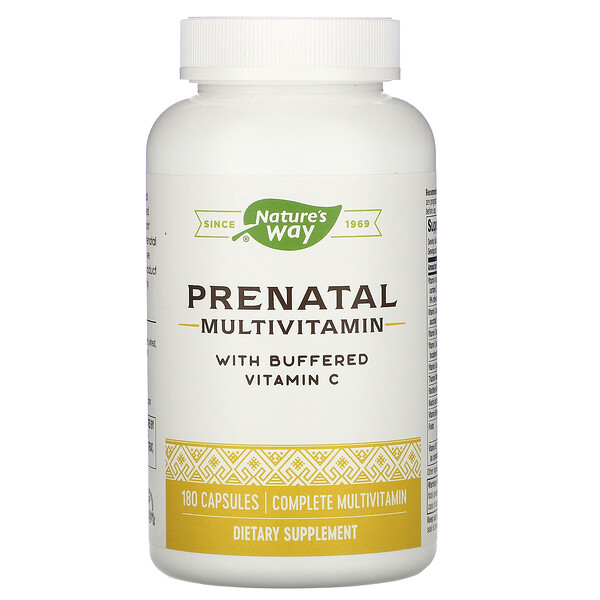 Nature's Way, Prenatal Multivitamin with Buffered Vitamin C , 180 Capsules