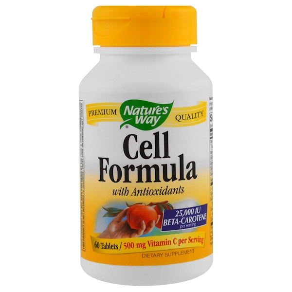 Nature's Way, Cell Formula, 500 mg, 60 Tablets (Discontinued Item)