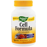Cell Formula with Anitoxidants, 100 Tablets - фото