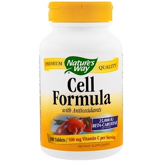 Nature's Way, Cell Formula with Anitoxidants, 100 Tablets