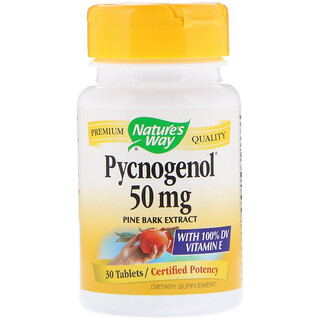 Nature's Way, Pycnogenol, Pine Bark Extract, 50 mg, 30 Tablets