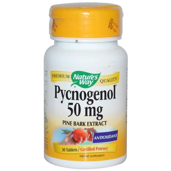 Nature's Way, Pycnogenol, Pine Bark Extract, 50 mg, 30 Tablets