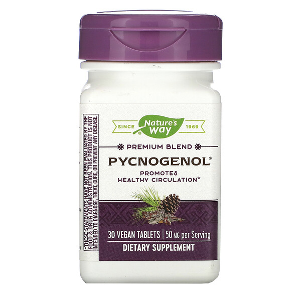 Pycnogenol, 50 mg, 30 Vegan Tablets