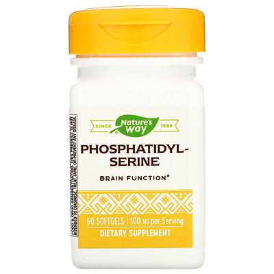 Купить Nature's Way Фосфатидилсерин, 500 мг, 60 мягких таблеток