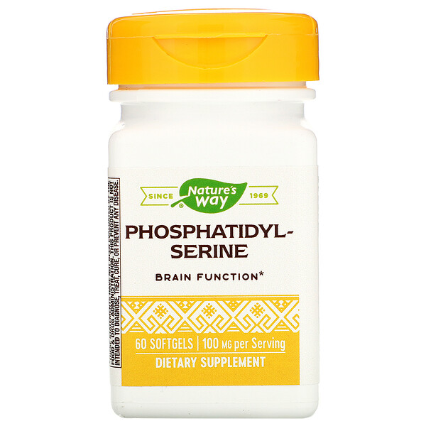 Nature's Way, Phosphatidylserine, 100 mg, 60 Softgels