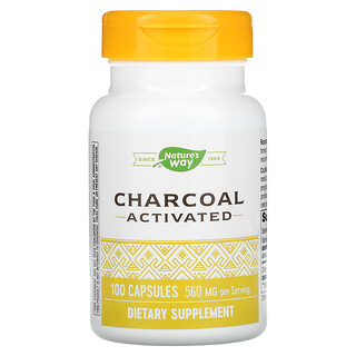 Nature's Way, Charcoal Activated, 280 mg, 100 Capsules