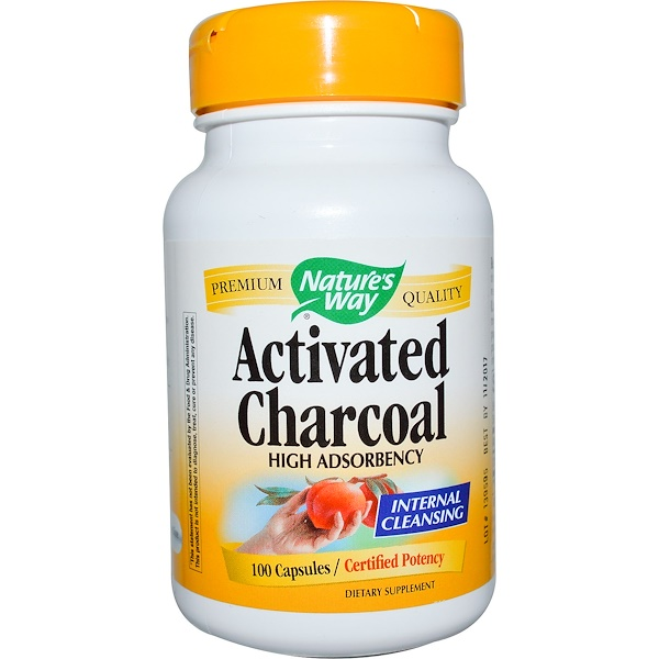 Nature's Way, Activated Charcoal, 100 Capsules