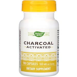 Натурес Вэй, Charcoal Activated, 560 mg, 100 Capsules отзывы покупателей