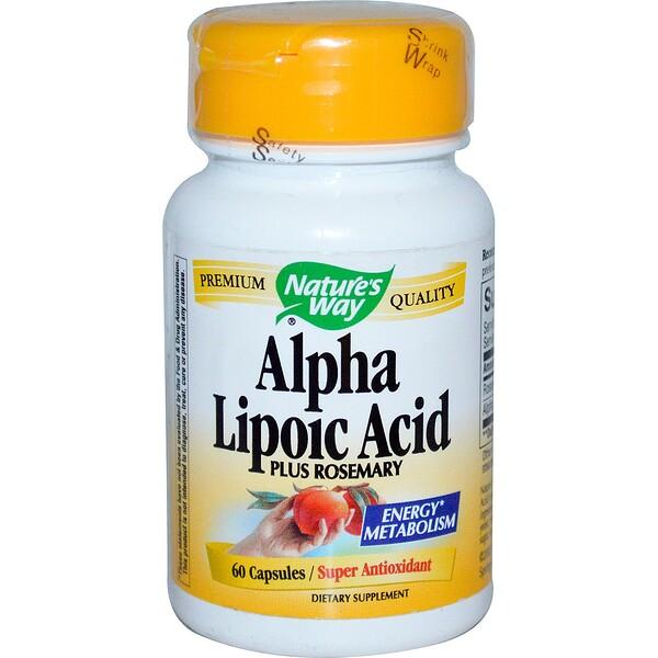 Nature's Way, Alpha Lipoic Acid, Plus Rosemary, 60 Capsules (Discontinued Item)
