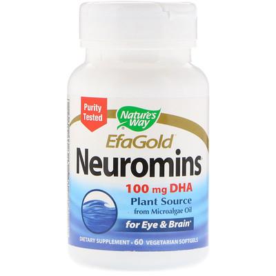 EfaGold, Neuromins, 100 mg, 60 Vegetarian Softgels недорого
