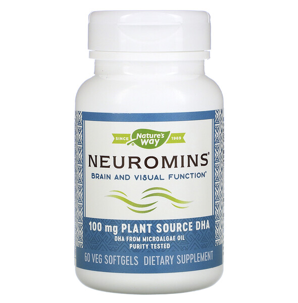 Nature's Way, Neuromins,100 毫克,60 粒素食软凝胶 (Discontinued Item)