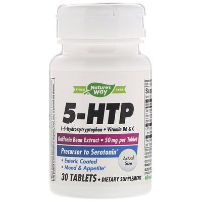 Nature's Way 5-гидрокситриптофан, 30таблеток  - купить со скидкой