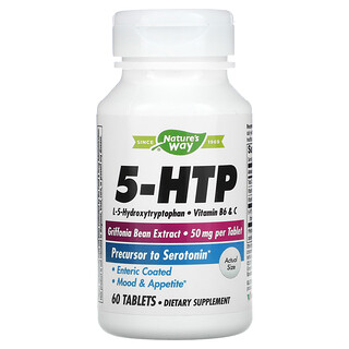 Nature's Way, 5-HTP, 50 mg, 60 Tablets