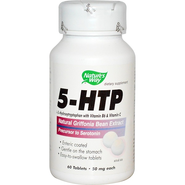 Nature's Way, 5-HTP, 50 mg Each, 60 Tablets