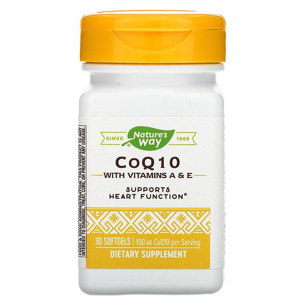 CoQ10, 100 mg, 30 Softgels