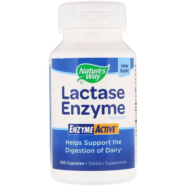 Nature's Way, Lactase Enzyme Formula, 100 Capsules