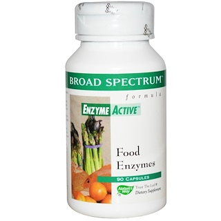 Nature's Way, Broad Spectrum Formula, Enzyme Active, Food Enzymes, 90 Capsules