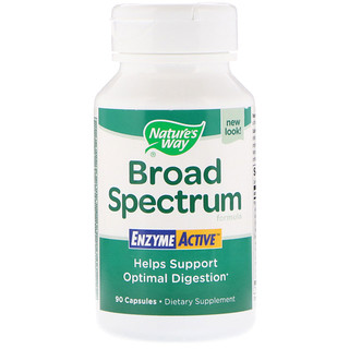 Nature's Way, Broad Spectrum Formula, Enzyme Active, 90 Capsules