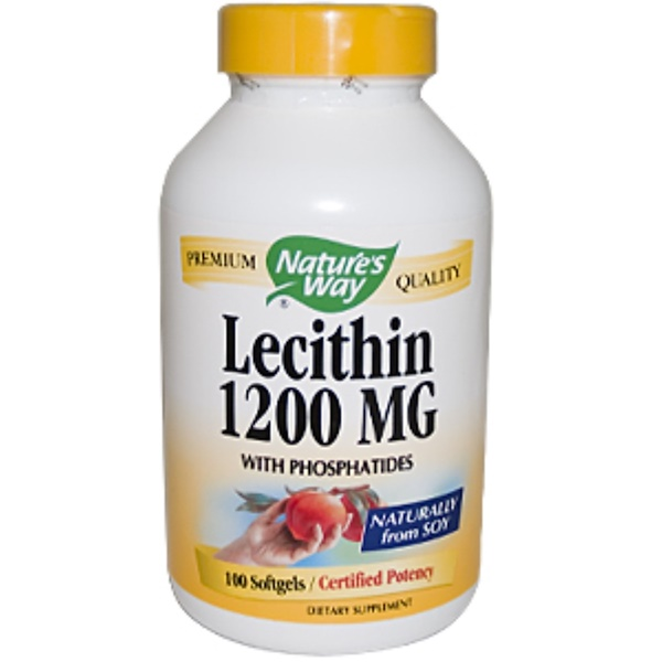 Nature's Way, Lecithin, 1200 mg, 100 Softgels (Discontinued Item)