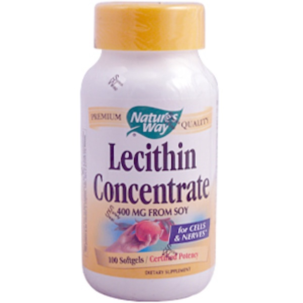 Nature's Way, Lecithin Concentrate, 100 Softgels (Discontinued Item)