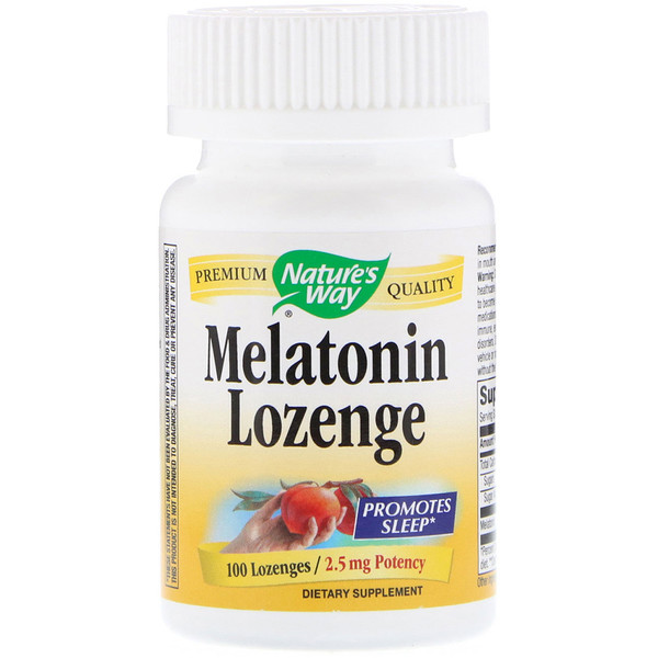 Nature's Way, Melatonin Lozenge, 2.5 mg, 100 Lozenges