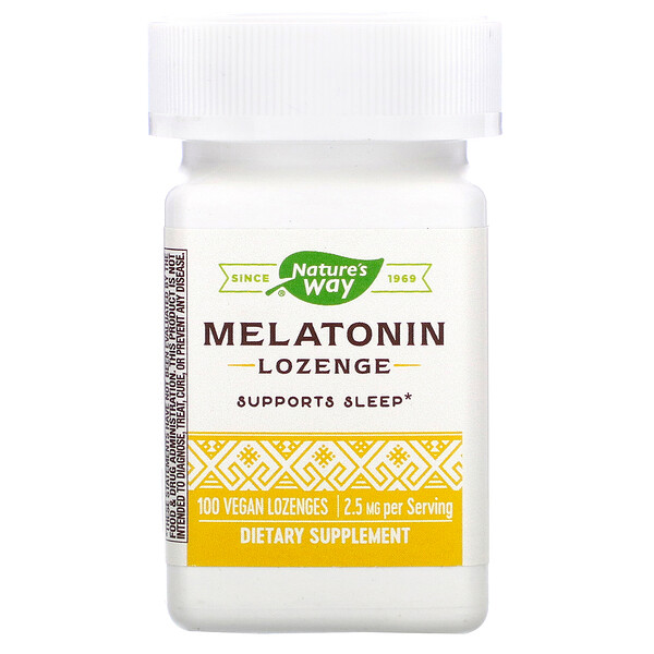 Melatonin Lozenge, 2.5 mg, 100 Vegan Lozenges