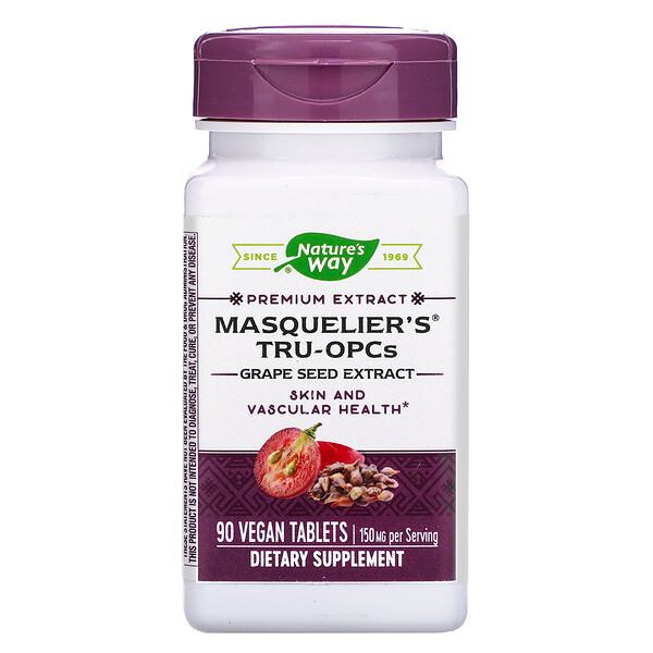 Nature's Way, Masquelier's Tru-OPCs, 150 mg, 90 Vegan Tablets