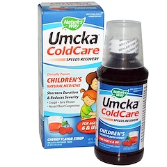 Nature's Way, Umcka ColdCare, 칠드런스, 체리향 시럽, 4 fl oz (120 ml)