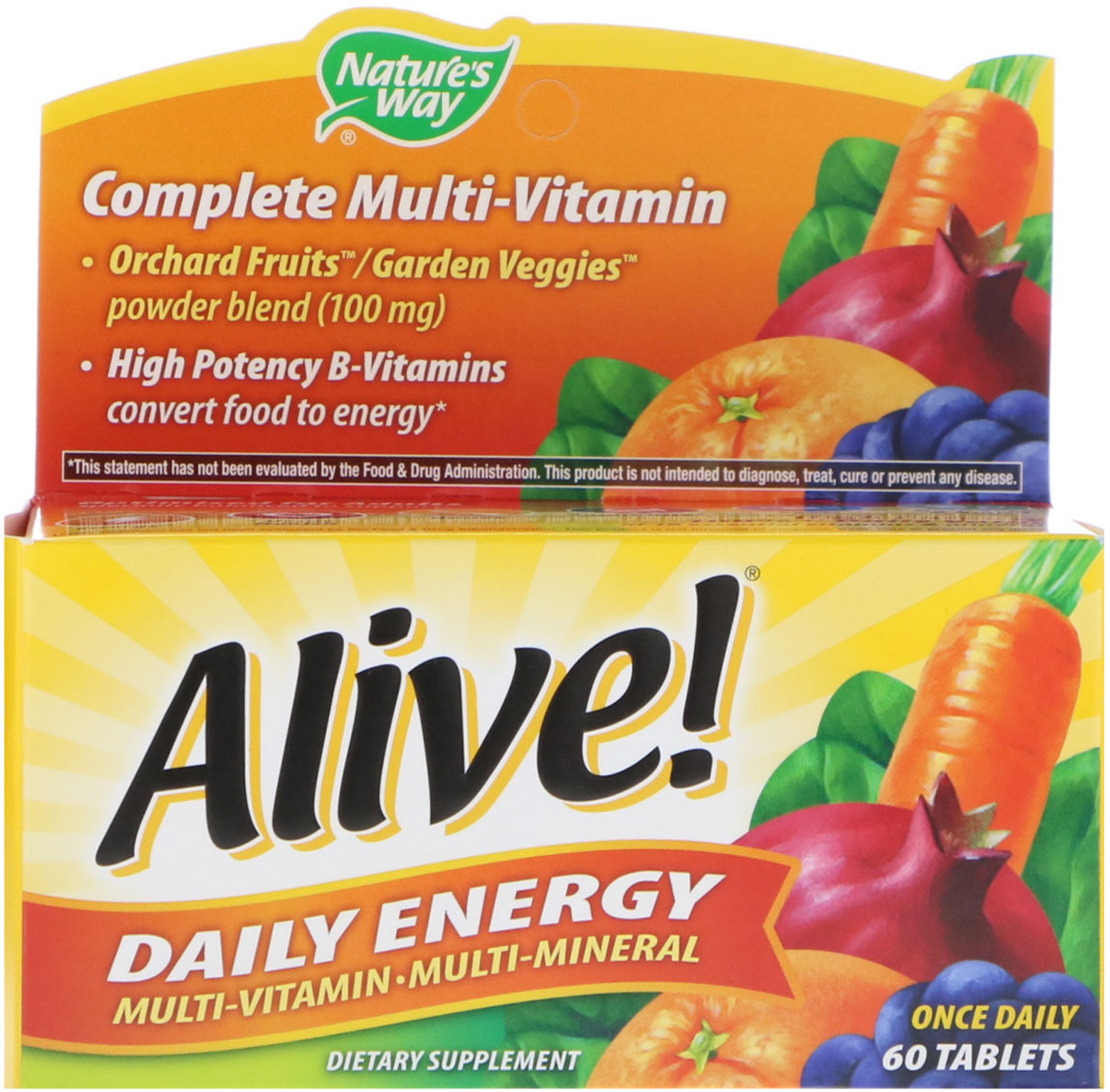 Vitamins For Energy >> Nature S Way Alive Daily Energy Multivitamin