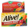Nature's Way, Alive!, Energy 50+, Multivitamin-Multimineral, For Adults 50+, 60 Tablets