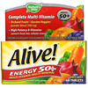 Nature's Way, Alive! Energy 50+, Multi-Vitamin-Multi-Mineral, Adults 50+, 60 Tablets
