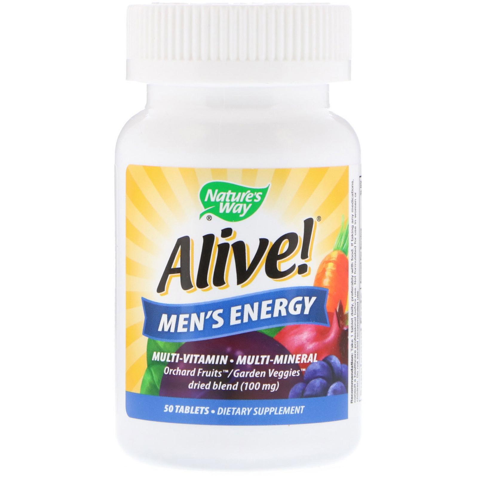 Nature's Way, Alive!, Men's Energy Multivitamin-Multimineral, 50