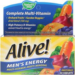 Nature's Way, Alive!, Men's Energy Multivitamin-Multimineral, 50 Tablets