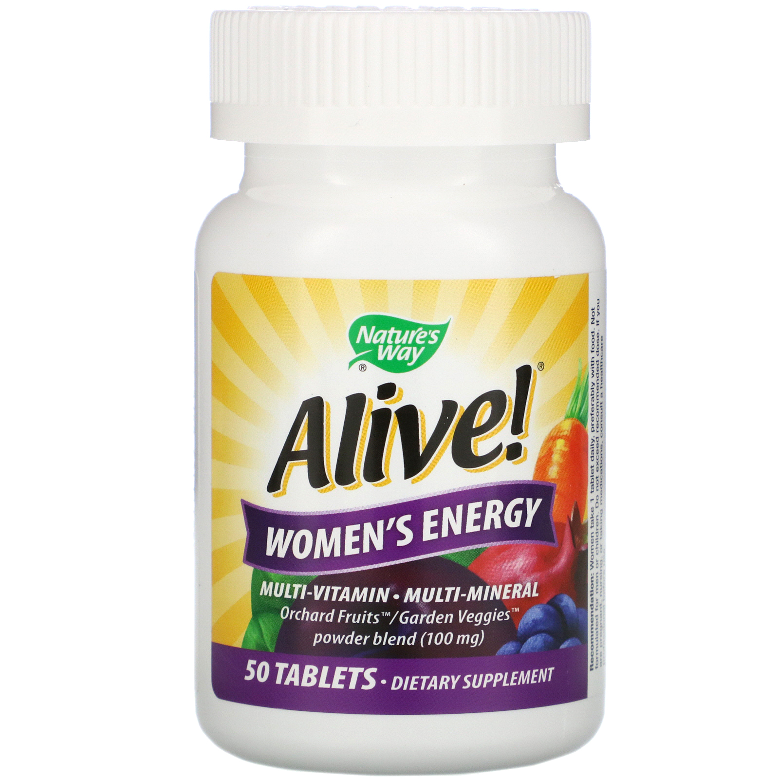 Nature S Way Alive Women S Energy Multivitamin Multimineral 50 Tablets Iherb