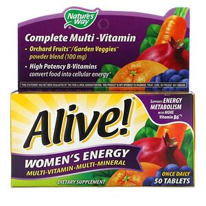 Натурес Вэй, Alive! Women's Energy, Multivitamin-Multimineral, 50 Tablets отзывы покупателей