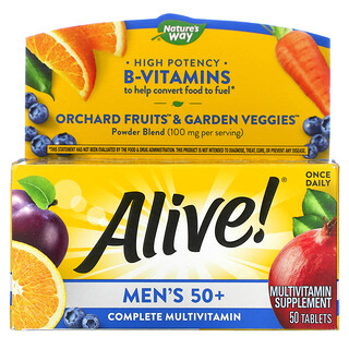 Nature's Way, Alive! Men's 50+ Complete Multi-Vitamin, 50 Tablets