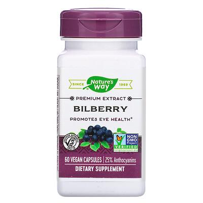 Купить Nature's Way Bilberry, 60 Vegan Capsules