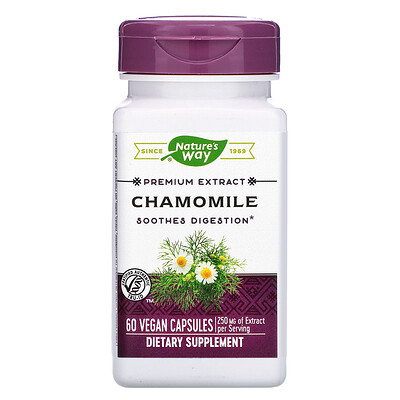 Фото - Chamomile, 250 mg, 60 Vegan Capsules grapefruit seed 250 mg 60 vegan capsules